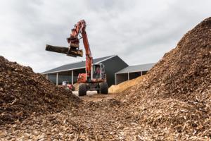 Gebruik van droge houtsnippers is duurzaam